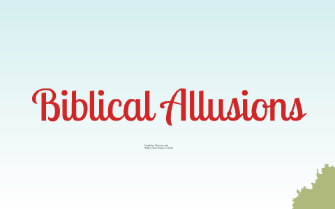 short stories with biblical allusions