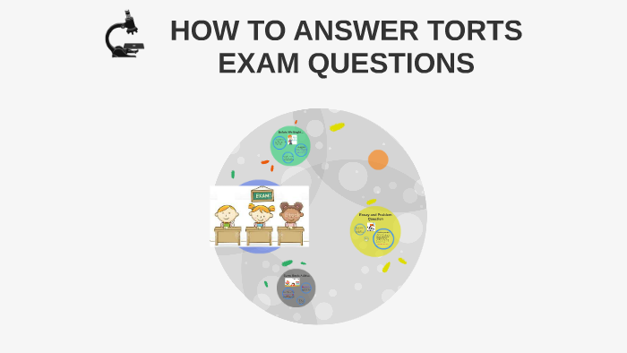 HOW TO ANSWER TORTS EXAM QUESTIONS by Noraiza Abdul Rahman