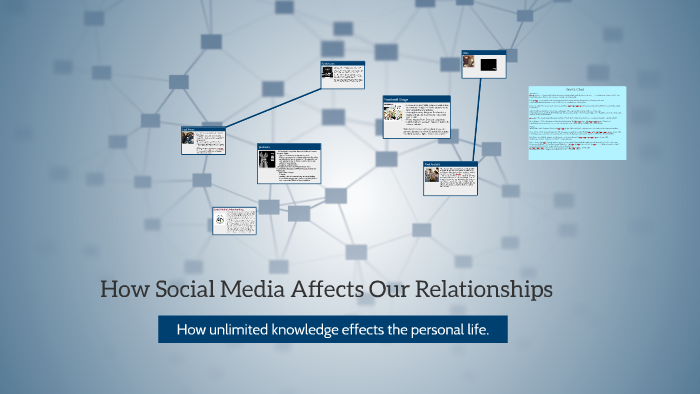 Affect media relationships how social does How Does