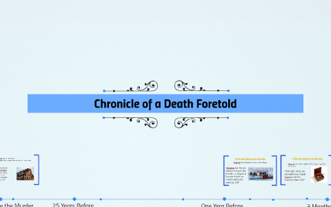 chronicle of a death foretold chapter 1