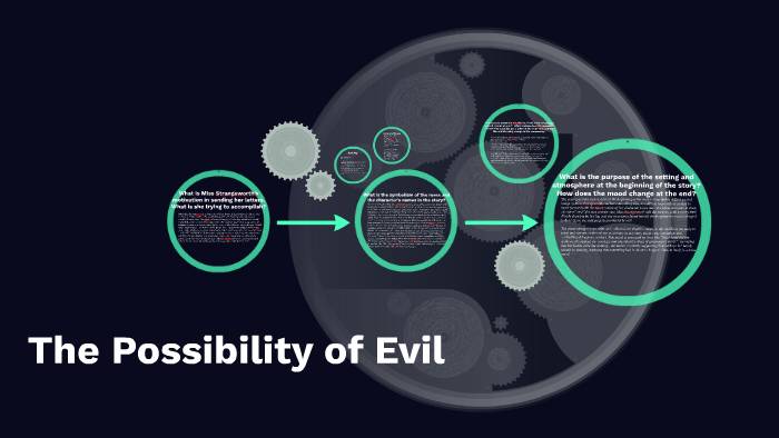 what is the setting of the possibility of evil