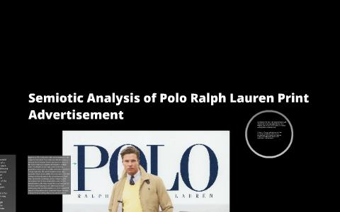 semiotic analysis of an advertisement