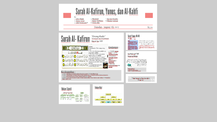 Surah Al Kafirun Yunus Dan Al Kahfi By Aulia Pratiwi On Prezi