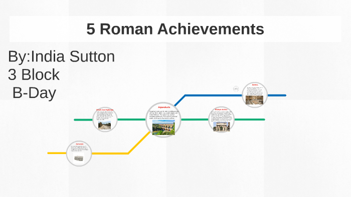 5 Roman Achievements by india sutton on Prezi Next