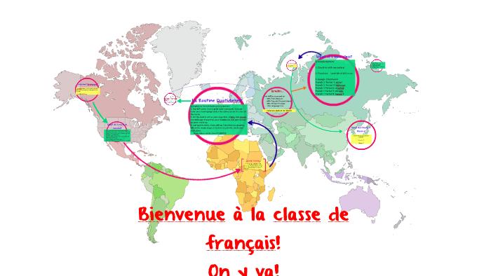 Bienvenue A La Classe De Francais By Reyna Land