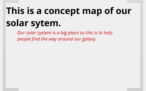 Solar System Concept Map By Sirish Desai On Prezi