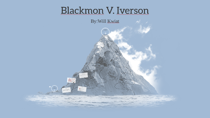 blackmon v iverson case brief