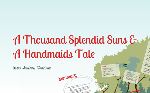 A Handmaids Tale And A Thousand Splendid Suns By Jaden Carter On Prezi  Examples Of Thesis Statements For Persuasive Essays also Research Proposal Essay Topics  Business Plan Essay