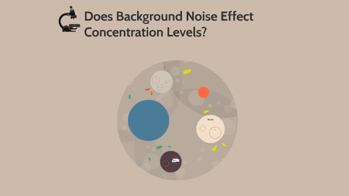 Does background noise effect concentration levels? by Brett
