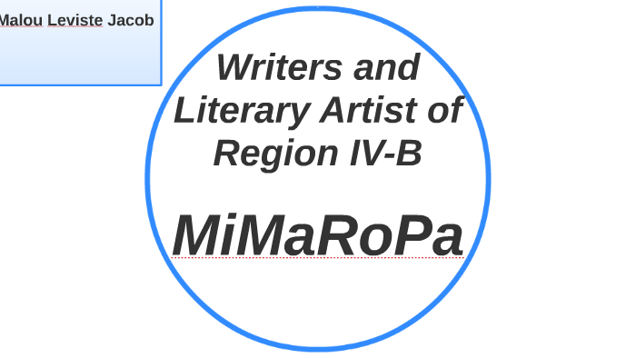 Writers and Literary Artist of Region IV-B by Jadeh