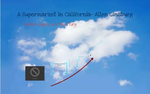 allen ginsberg a supermarket in california analysis