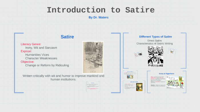 Satire Amp Irony By Kenneth Waters On Prezi