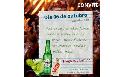 Convite Niver Lauro E Guilherme By Guilherme Junqueira On Prezi