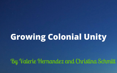 colonial unity