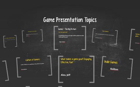 Game Presentation Topics by rosalyn chiupka on Prezi