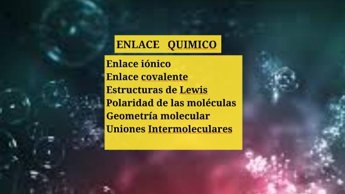 Copy Of Copy Of Copy Of Uniones Quimicas By Marianela