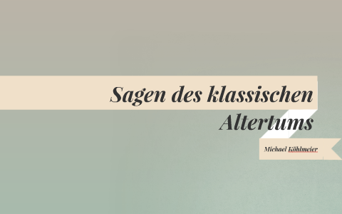Michael Köhlmeier Sagen Des Klassischen Altertums By Naveen