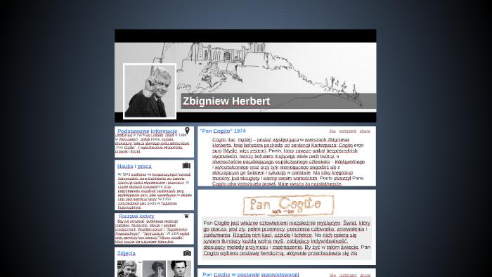 Zbigniew Herbert By Małgorzata Gepfert On Prezi