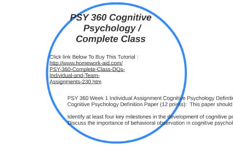 cognitive psychology definition