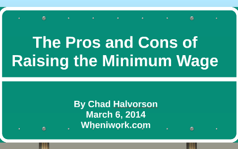 minimum wage pros and cons