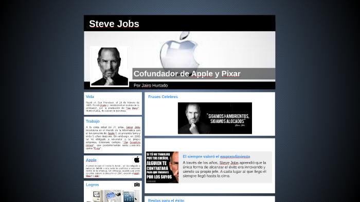62c938edd13 Steve Jobs - Creador de Apple by Jairo Hurtado on Prezi
