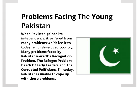 early problems of pakistan