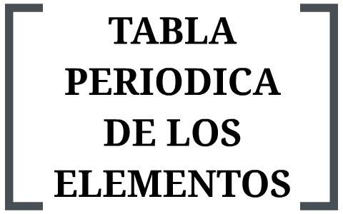 tabla periodica de los elementos by estefania cordoba paeres on prezi