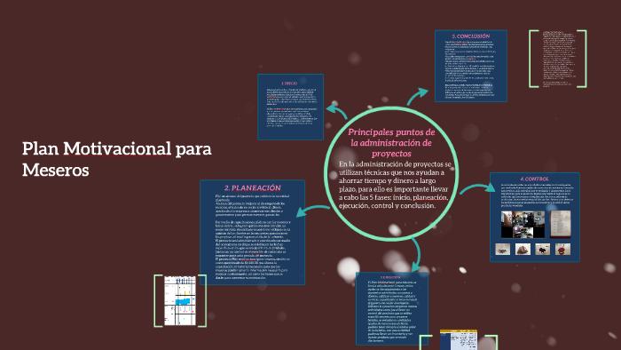 Plan Motivacional Para Meseros By Ana Lilia Olvera On Prezi