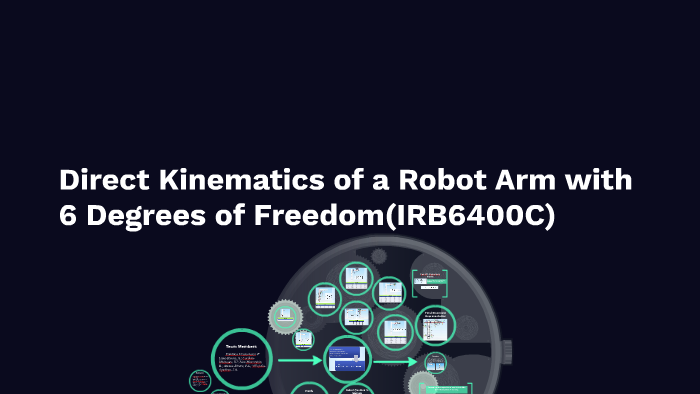 Direct Kinematics of a Robot Arm with 6 Degrees of Freedom