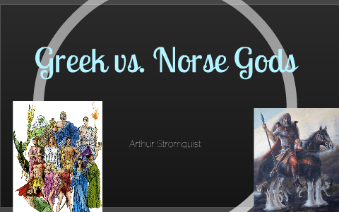 greek vs norse mythology