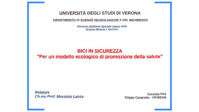3 Project Work Bici In Sicurezza By Filippo Casarotto