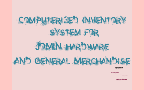 computerized inventory system thesis pdf