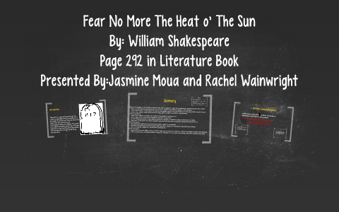 fear no more the heat o the sun analysis