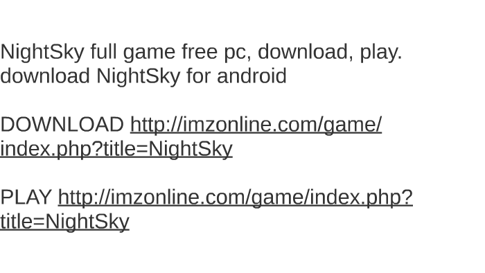 night sky game free download for pc