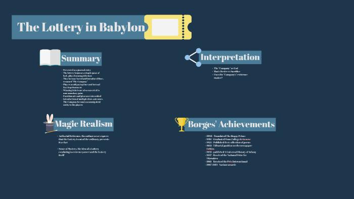 the lottery in babylon summary