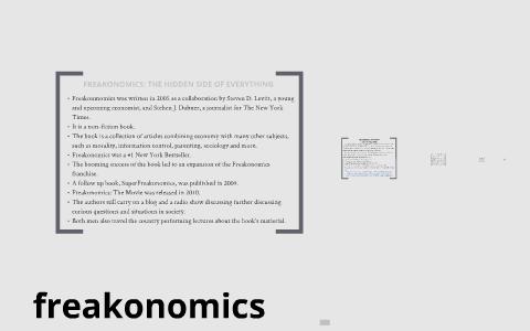 freakonomics chapter 2 summary
