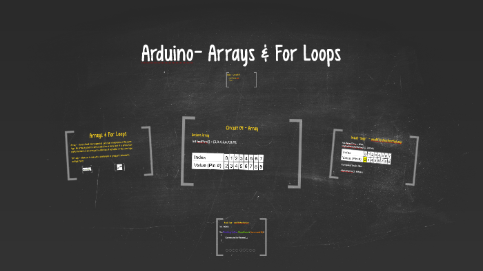 Arduino- Arrays & For Loops by Trevor V on Prezi