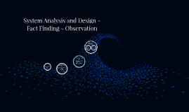 System Analysis And Design Fact Finding Observation By Tuba Thomas Iong