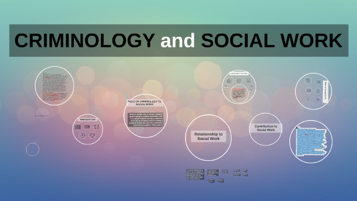 Criminology for Social Work
