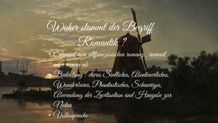 Begriff romantik