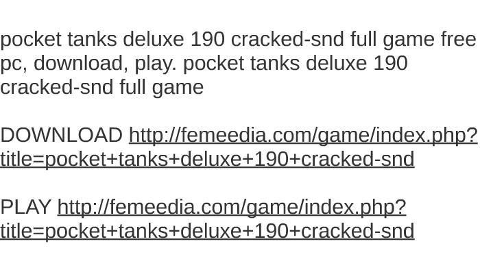 pocket tanks torrent