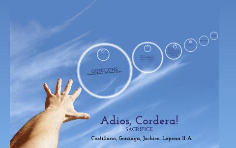 adios cordera in english