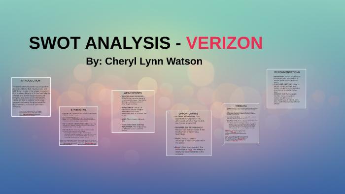 verizon wireless swot analysis