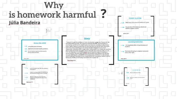 why is homework harmful