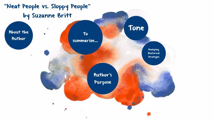 neat people vs sloppy people summary
