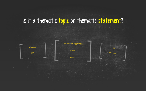 what is thematic statement
