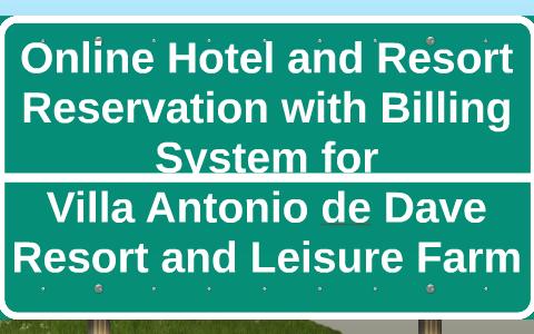 hotel reservation and billing system
