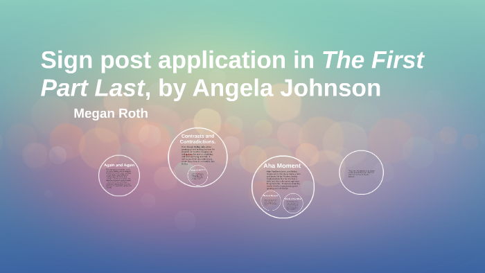 Sign Post Application In The First Part Last By By Megan Roth On Prezi