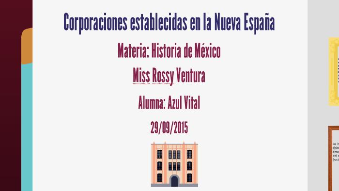 Corporaciones Establecidas En La Nueva España By Prezi User