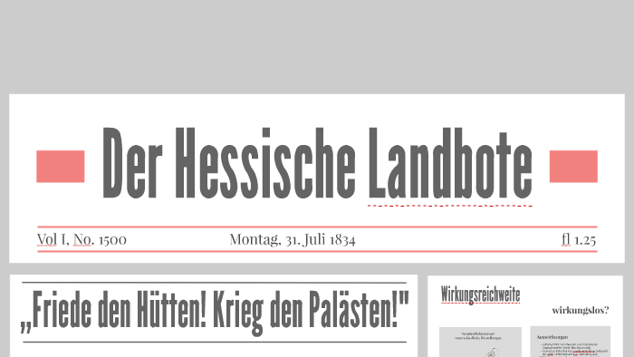 Der Hessische Landbote By Philip Sommer On Prezi